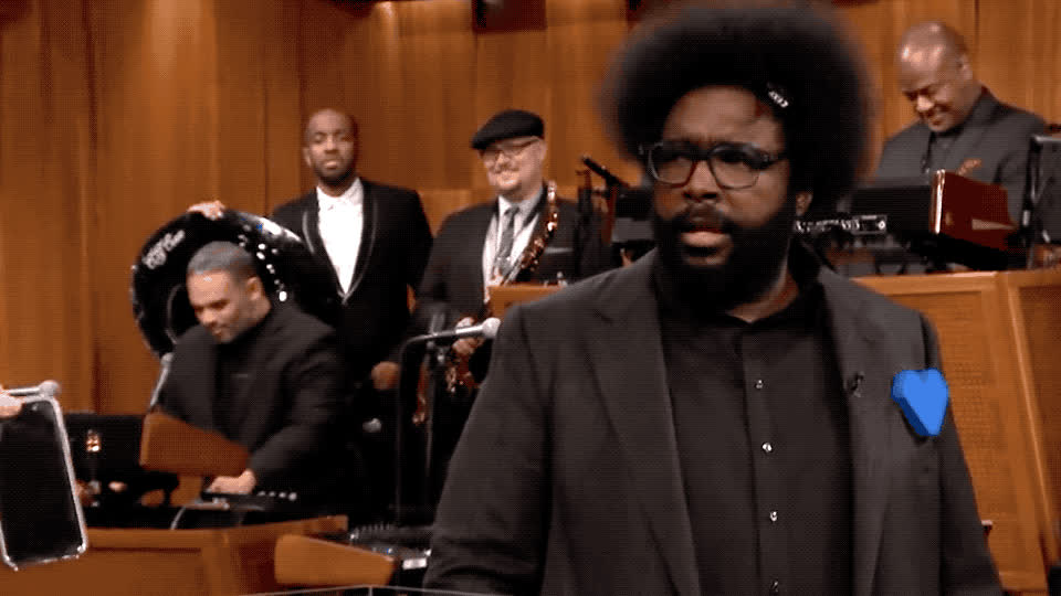 afraid, believe, can't, confused, dan, fallon, god, jimmy, magician, my, oh, omg, questlove, roots, scared, shock, show, tonight, trick, white, Questlove - OMG GIFs