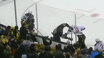 Watch and share McQuaid Needed 25 Stitches After Taking Skate To The Neck GIFs by stero on Gfycat