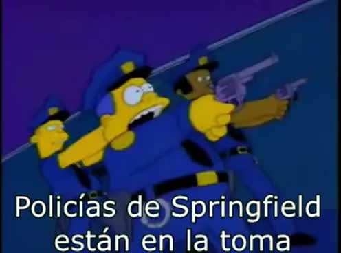 "Watch and share Los Simpsons Cancion ""Bad Cops"" Sub Español + Bonus Latino GIFs on Gfycat"