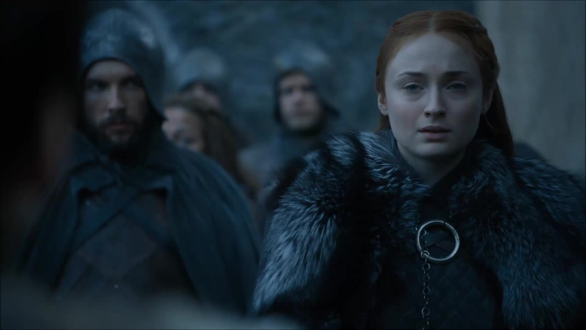 Game Of Thrones, Game of Thrones S7Ep3, GoT, Sophie Turner, Emotional hug. GIFs