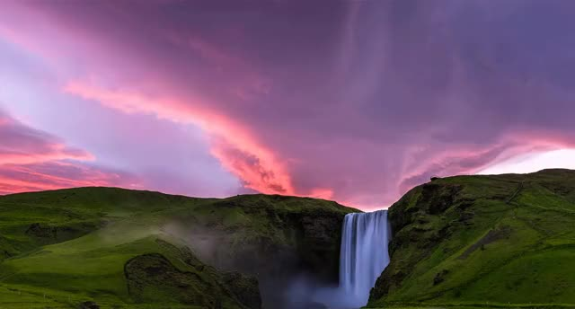 """Watch and share """"Clouds Above A Waterfall In Iceland"""" By Solateor In WeatherGifs GIFs by sonjeba on Gfycat"""