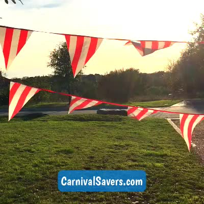 Watch and share Red & White Striped Pennant Banner - 100 Feet Of Color! GIFs by Carnival Savers on Gfycat