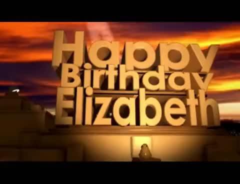 Watch and share Happy Birthday Elizabeth GIFs on Gfycat