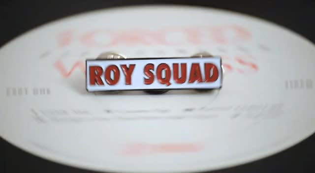 Watch roy squad badge roy molloy pin GIF by Al Cam Gifs (@jumpytheshark) on Gfycat. Discover more alexcameron, roymolloy GIFs on Gfycat