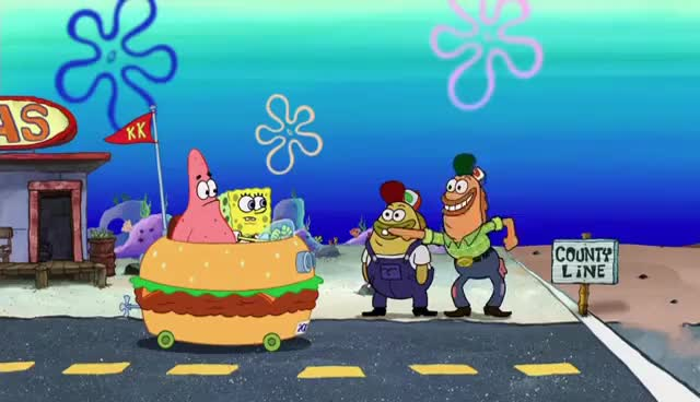 Watch and share The Spongebob Squarepants Movie - Gas Station GIFs on Gfycat