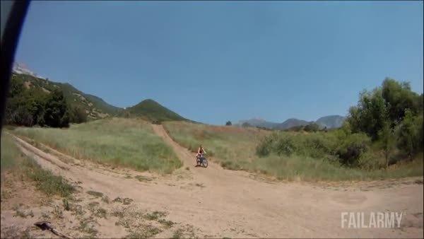 chicksfalling, holdmycosmo, Speeding down a dirt hill on a bike, WCGW? (reddit) GIFs