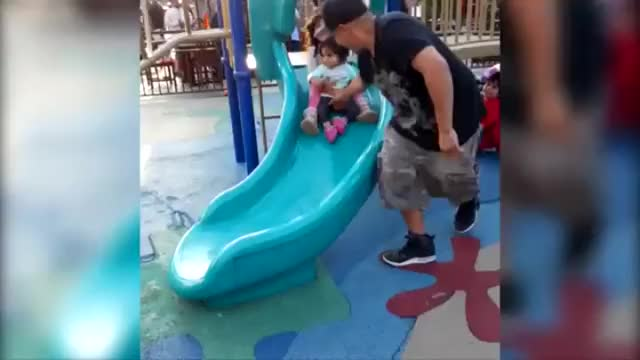 Watch Dad saves baby daughter from evil big sister GIF on Gfycat. Discover more DadReflexes, popular GIFs on Gfycat