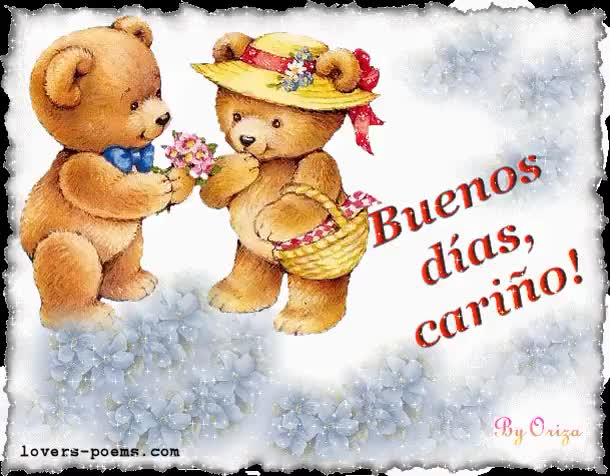 Watch and share Buenos Dias Carino animated stickers on Gfycat