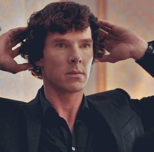 Watch and share Benedict Cumberbatch As Sherlock Holmes From The Sherlock TV Series. GIFs on Gfycat