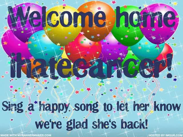 Watch and share Welcome Home Ihatecancer Celebration GIFs on Gfycat