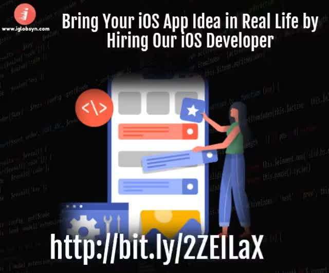 Watch and share Bring Your IOS App Idea In Real Life By Hiring Our IOS Developer – Http://bit.ly/2ZEILaX GIFs by iGlobsyn Technologies on Gfycat