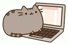 author, cat, cats, computer, laptop, pusheen, pusheen cat, pusheen the cat, side hustle, typing, work, working, writing, Pusheen Typing GIFs