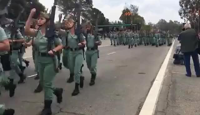 Watch and share Desfile Legion Española, 96 Aniversario. Brigada De La Legion. Viator, Almeria. 2016. GIFs on Gfycat
