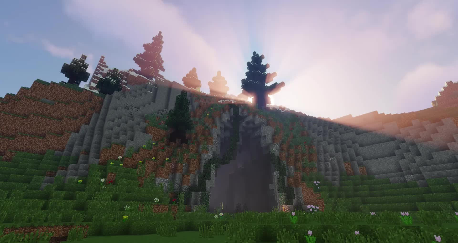 building, minecraft, trees, A Peaceful Place GIFs