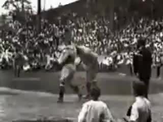 Watch and share Babe Ruth GIFs and Baseball GIFs on Gfycat