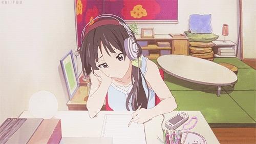 K-ON!, K-On! gif, akiyama mio, anime girl, k-on, mio akiyama, k-on GIFs