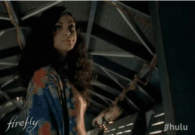 Watch and share Morena Baccarin Inara Serra Gif animated stickers on Gfycat