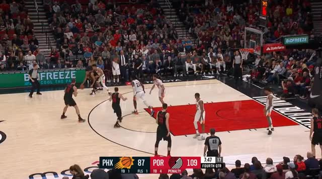 Watch Za wysoko wyciągnięty split GIF by @prejuce on Gfycat. Discover more Phoenix Suns, Portland Trail Blazers, basketball GIFs on Gfycat