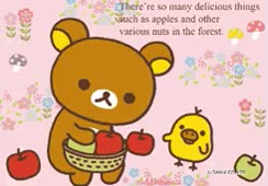 Watch and share Pink Rilakkuma Fruit Picking Gif With Kamonohashikamo And Korilakkuma GIFs on Gfycat