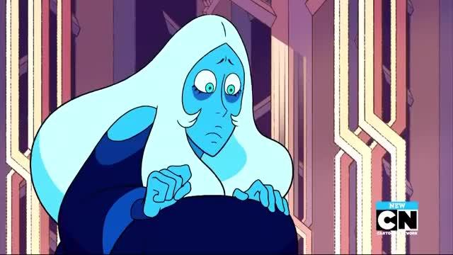 Watch Blue Diamond Shook GIF on Gfycat. Discover more Blue, Diamond, Pearl, Stevonnie, alone, amethyst, ball, cartoon, connie, earth, garnet, homeworld, network, steven, together, universe GIFs on Gfycat