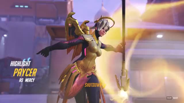 Watch and share Overwatch GIFs and Mercy GIFs by Paycer on Gfycat