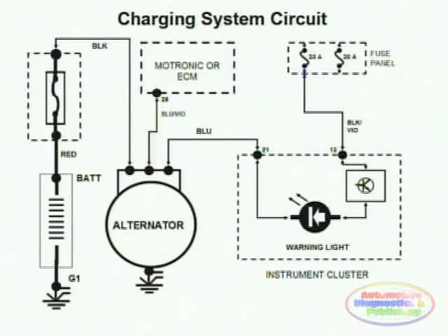 charging system wiring diagram all wiring diagram Small Engine Electrical System Diagram