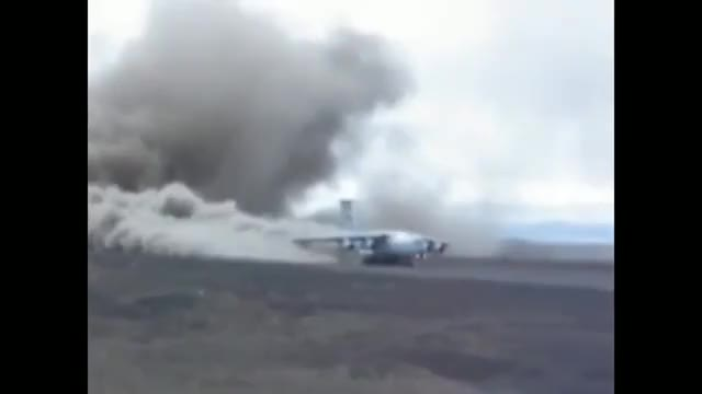 Watch and share Il-76 Dirt Strip Takeoff, Greenland GIFs on Gfycat