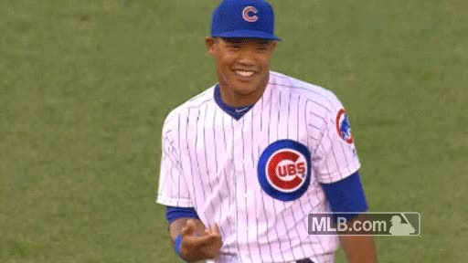 Watch Russell smiling GIF by Chewalk (@chewalk) on Gfycat. Discover more Addison Russell, cubs GIFs on Gfycat