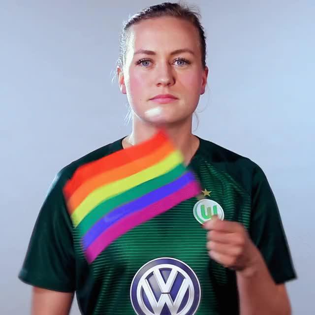 Watch and share 19 Rainbow Flag GIFs by VfL Wolfsburg on Gfycat
