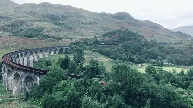 Watch and share Hogwarts Express Aka The Jacobite Steam Train On Glenfinnan Viaduct, Scotland GIFs by EngineerScientist on Gfycat
