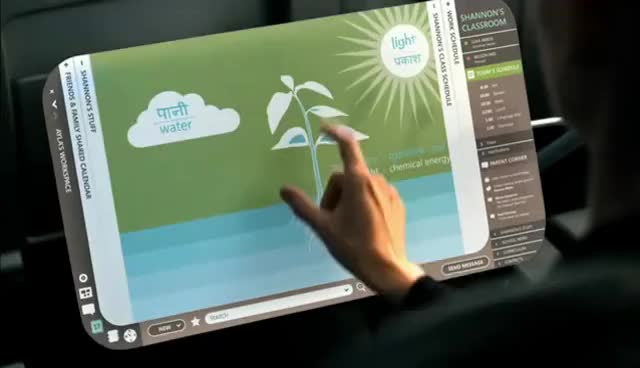 Pranav Mistry's Sixth-Sense and Microsoft's Productivity Future Vision GIFs