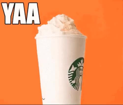 Watch and share Pumpkin Spice Latte GIFs and Basic GIFs on Gfycat