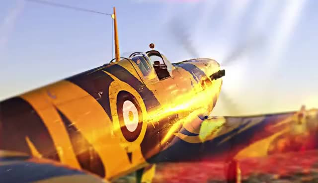 Watch and share Blazing Spitfire - Wallpaper Engine GIFs on Gfycat