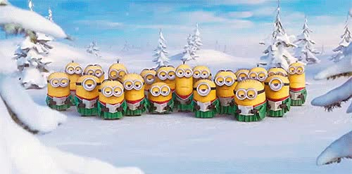 Watch and share Minion, Les Minions, Chant De Noel, Chorale GIFs on Gfycat