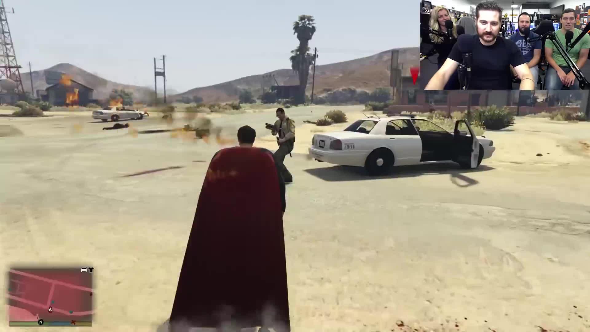 gta 5, superman, vs, [GTA V] Superman, to the rescue! GIFs