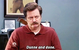 Nick Offerman, done, i quit, i'm done, pannedpandawork, parks and rec, parks and rec s06e04, parks and recreation, parksedit, ron dunne, ron swanson, Dunne and Done - Ron Swanson GIFs