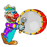 Watch and share Clown Drummer Animated GIFs on Gfycat