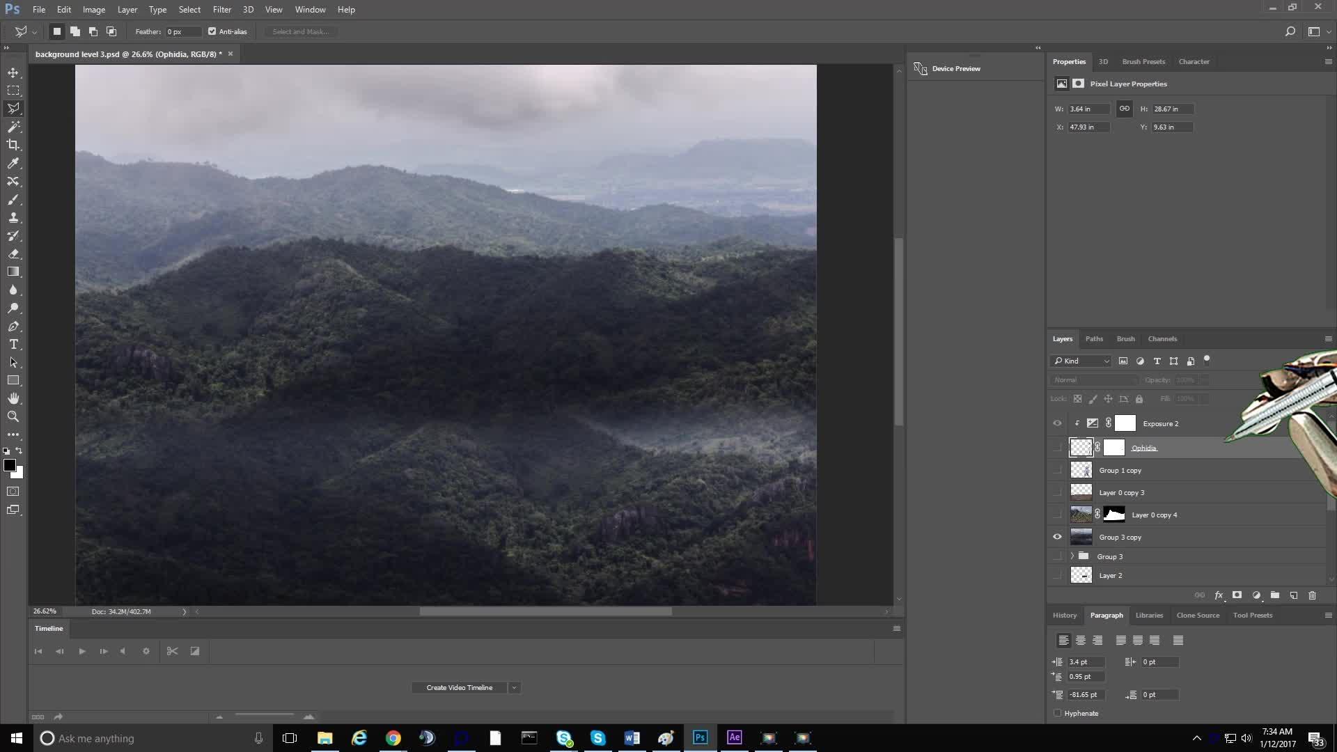 CreationGifs, photoshopbattles, Baby witch overlooking Machu Piccu (reddit) GIFs