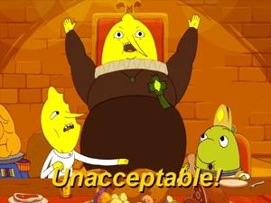 AT, Adventure Time, Lemongrab, Lemongrab 2, Lemongrab 3, Lemonhope, Lemonhope Part 1, Lemonhope Part 2, Too Old, Too Young, gif, gifs, my gifs, pear gifs, Son of a BLEEP-BLOP GIFs