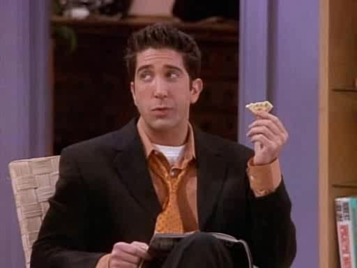howyoudoin, I was watching this episode and I realized... Ross' cracker is self healing... (reddit) GIFs