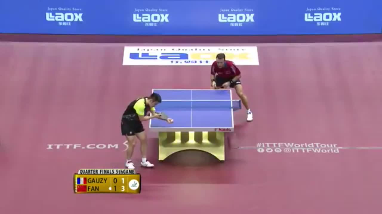 ittf, table tennis, tabletennis, 2016 Japan Open Highlights: Fan Zhendong vs Simon Gauzy (1/4) GIFs