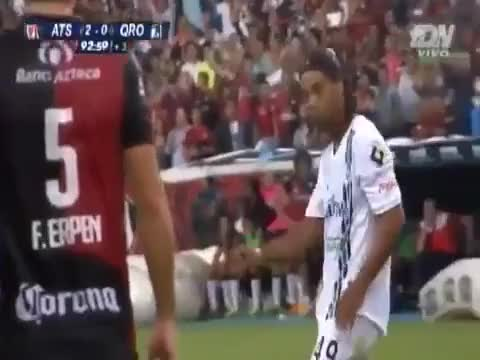 Watch and share Ronaldinho FK Atlas GIFs on Gfycat