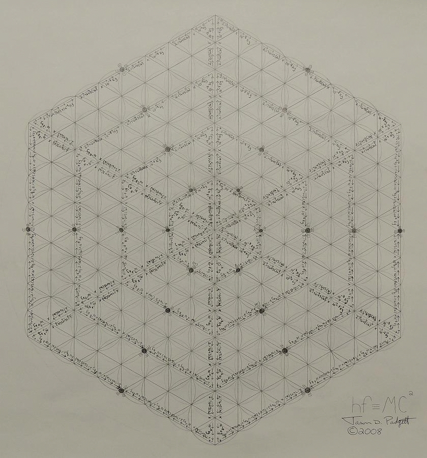 holofractal, Jason Padgett's planck lattice + Nassim's scalar 64 tetrahedron planck lattice (reddit) GIFs