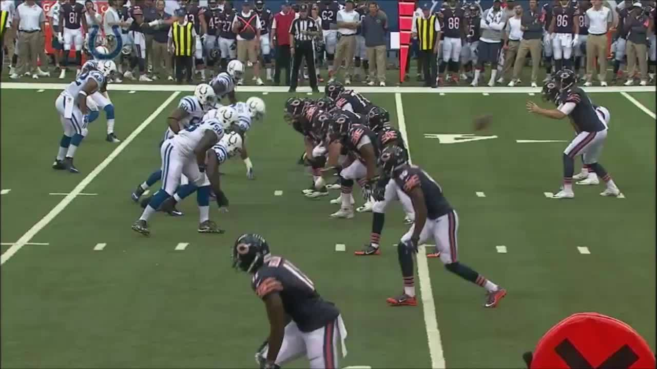 chibears, Cutler to Bellamy, called back on foul (Gif) (reddit) GIFs