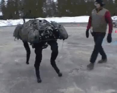 Watch and share Boston Dynamics BigDog Robot Push GIFs on Gfycat
