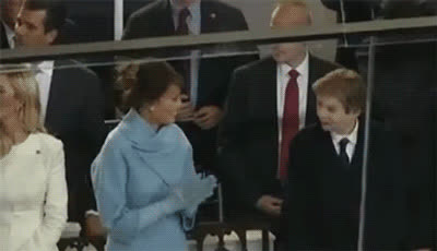barron trump, high five, high five fail, melania trump, Melanie and Barron Trump High Five Fail GIFs