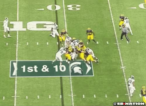 Watch Michigan football GIF on Gfycat. Discover more related GIFs on Gfycat