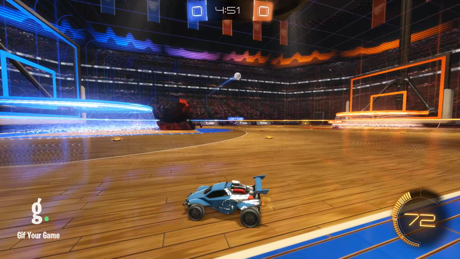 Gif Your Game, GifYourGame, Goal, Rocket League, RocketLeague, obl S> RL Inv, Goal 1: ALL CAPS GIFs