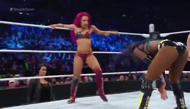 Naomi, Sasha Banks, Sasha Banks attacking GIFs