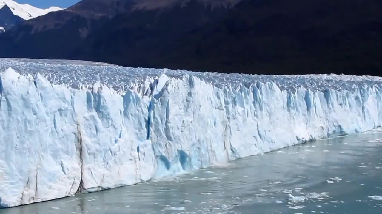 earthgifs, glacier, perito moreno glacier, Perito Moreno Glacier Calving and Tsunami Wave- Patagonia, Argentina GIFs
